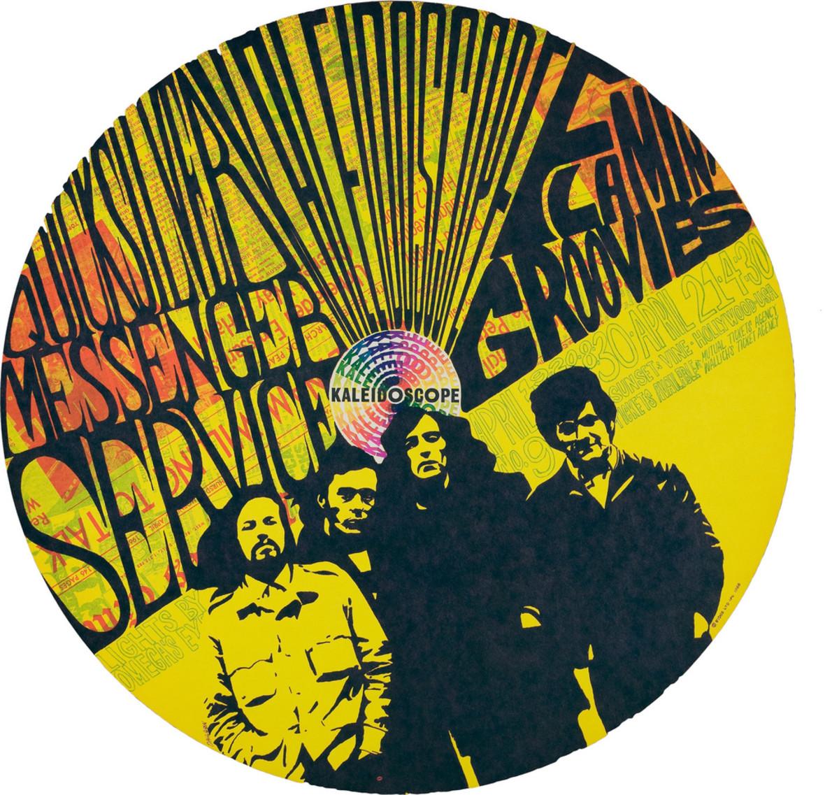 Quicksilver Messenger Service, Kaleidoscope, Flamin' Groovies, Kaleidoscope Concert Poster (1968) Poster #9 In Series Art by Dick Dahlgren