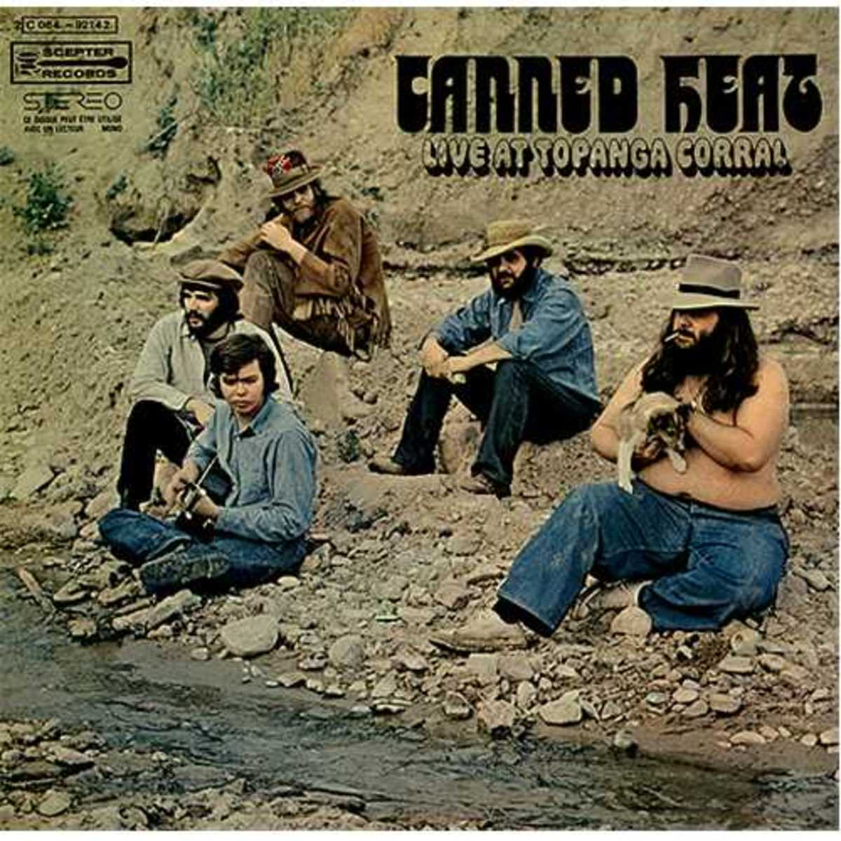 "Canned Heat ""Live at Topanga Corral"" Wand Records WDS 693 (1970) Front Cover  -- Bob Hite, Alan Wilson"