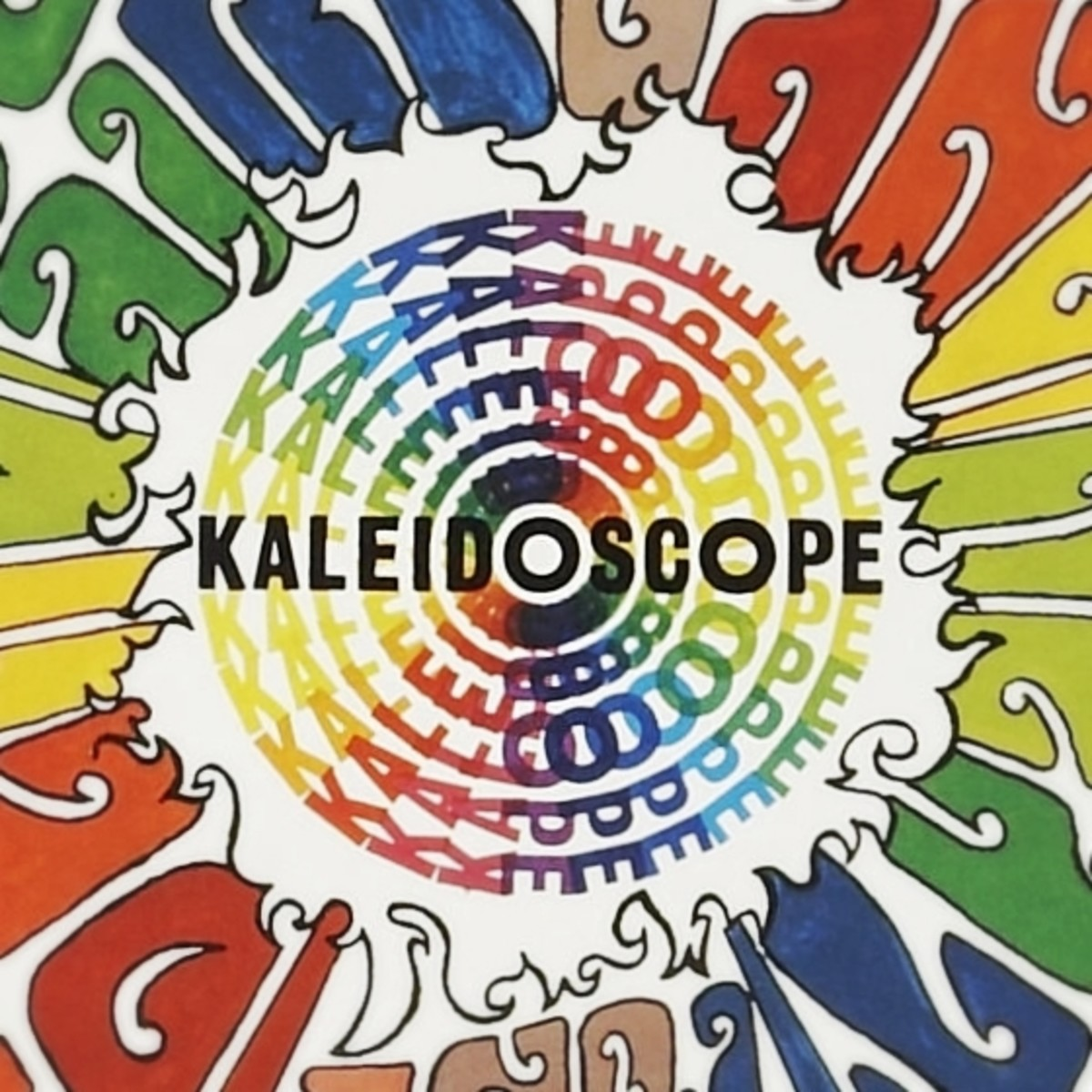 Vintage 1968 Kaleidoscope Round Concert Poster Series