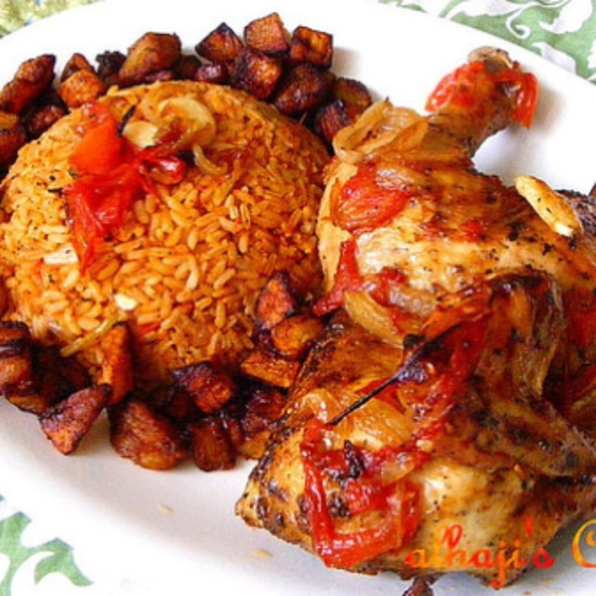 Jolof rice is part of Nigerian wedding menu