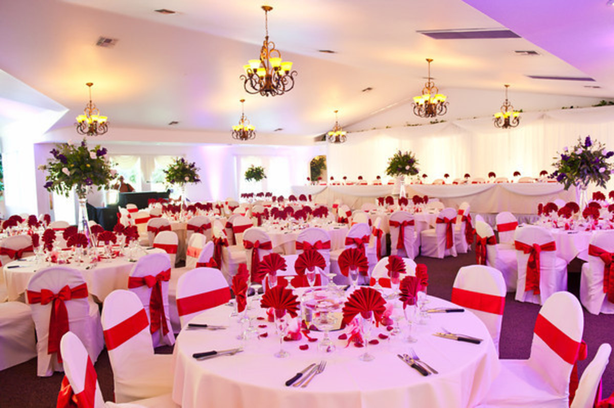 The venue and decoration at a Nigerian wedding