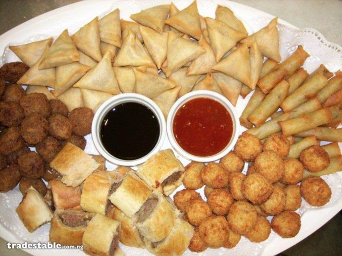 Small chops has become part of Nigerian wedding menu