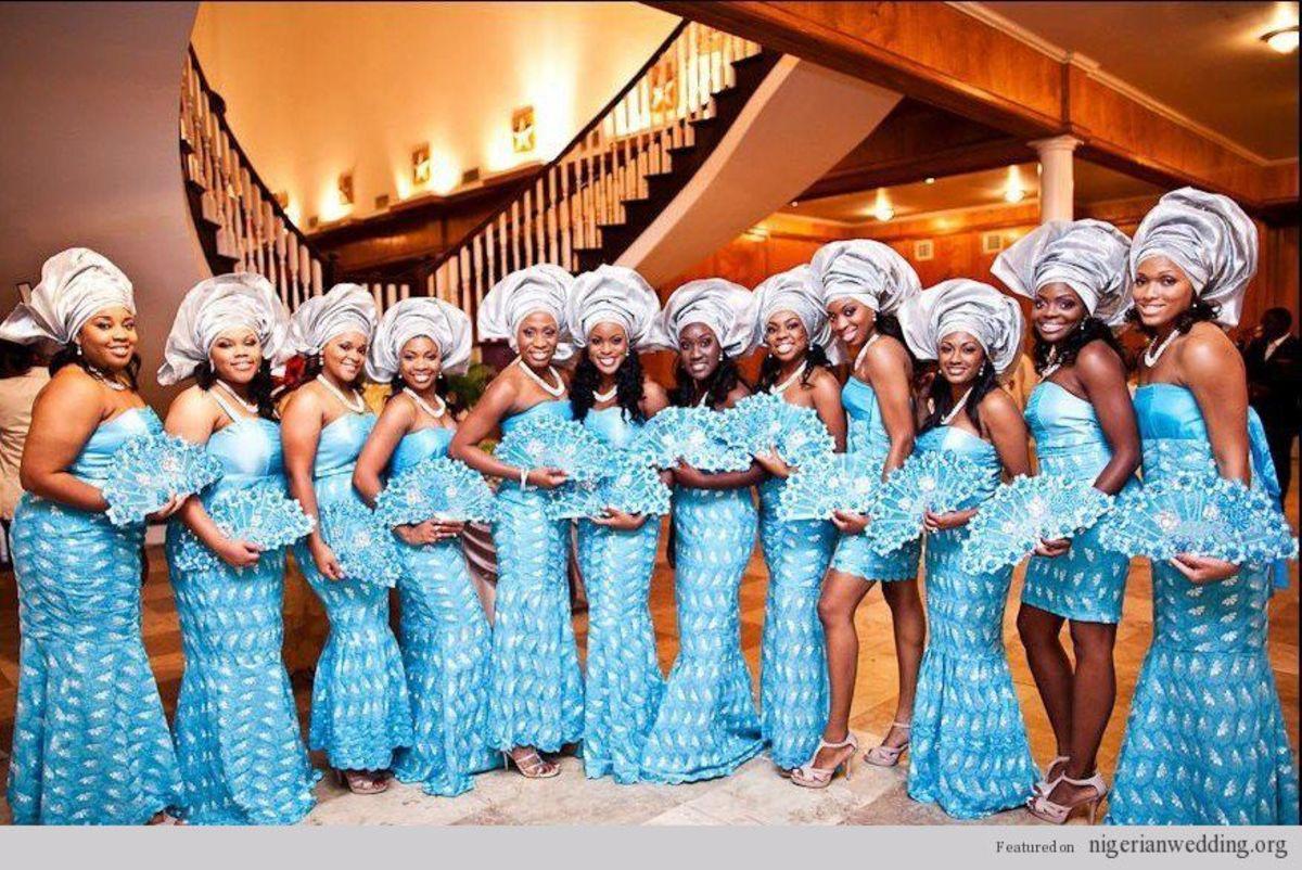 Beautiful Nigerian women in wedding outfits