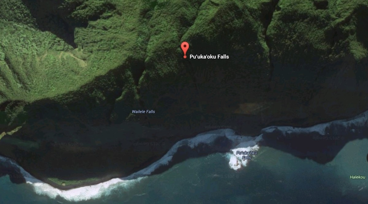 Pu'uka'oku Falls is located on the steep side of a sea cliff and is only accessible by way of sea or air. Helicopter and sea tours will undoubtedly travel past this waterfall if you book a waterfall site seeing tour.