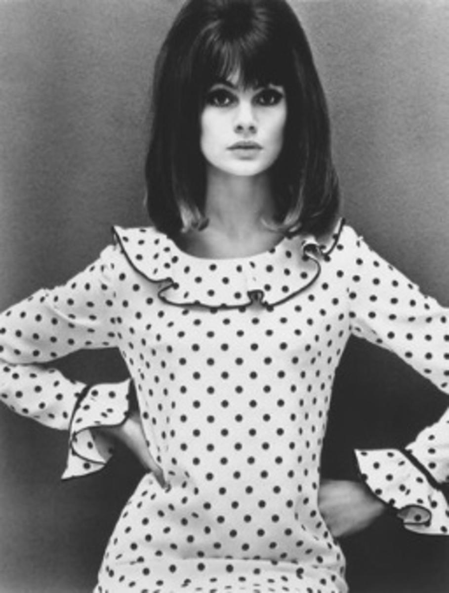 Jean Shrimpton 'The Shrimp' often modeled for Mary Quant.