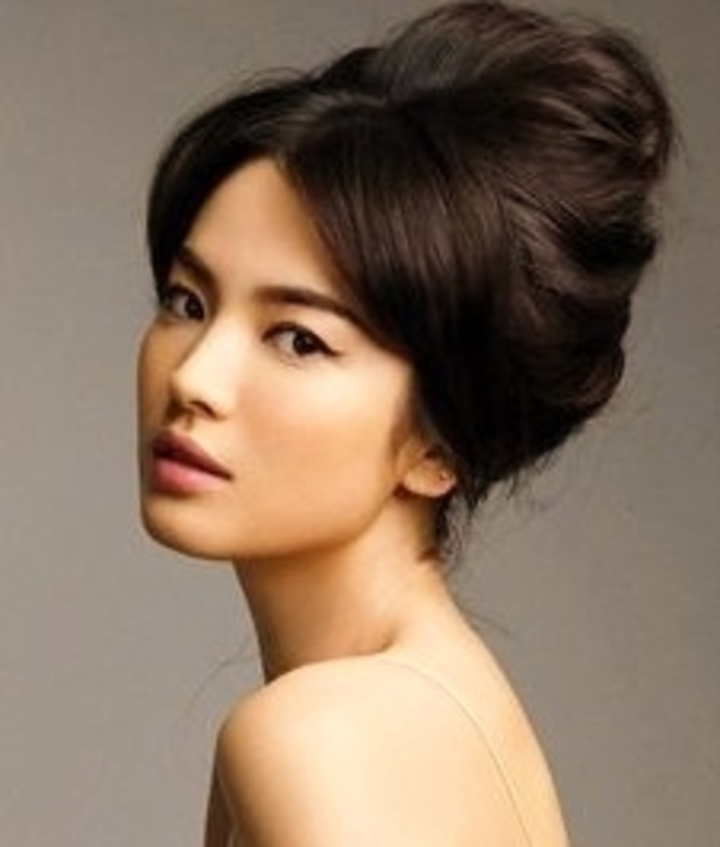 The modern Geisha look can also be a relaxed hairstyle to wear at home