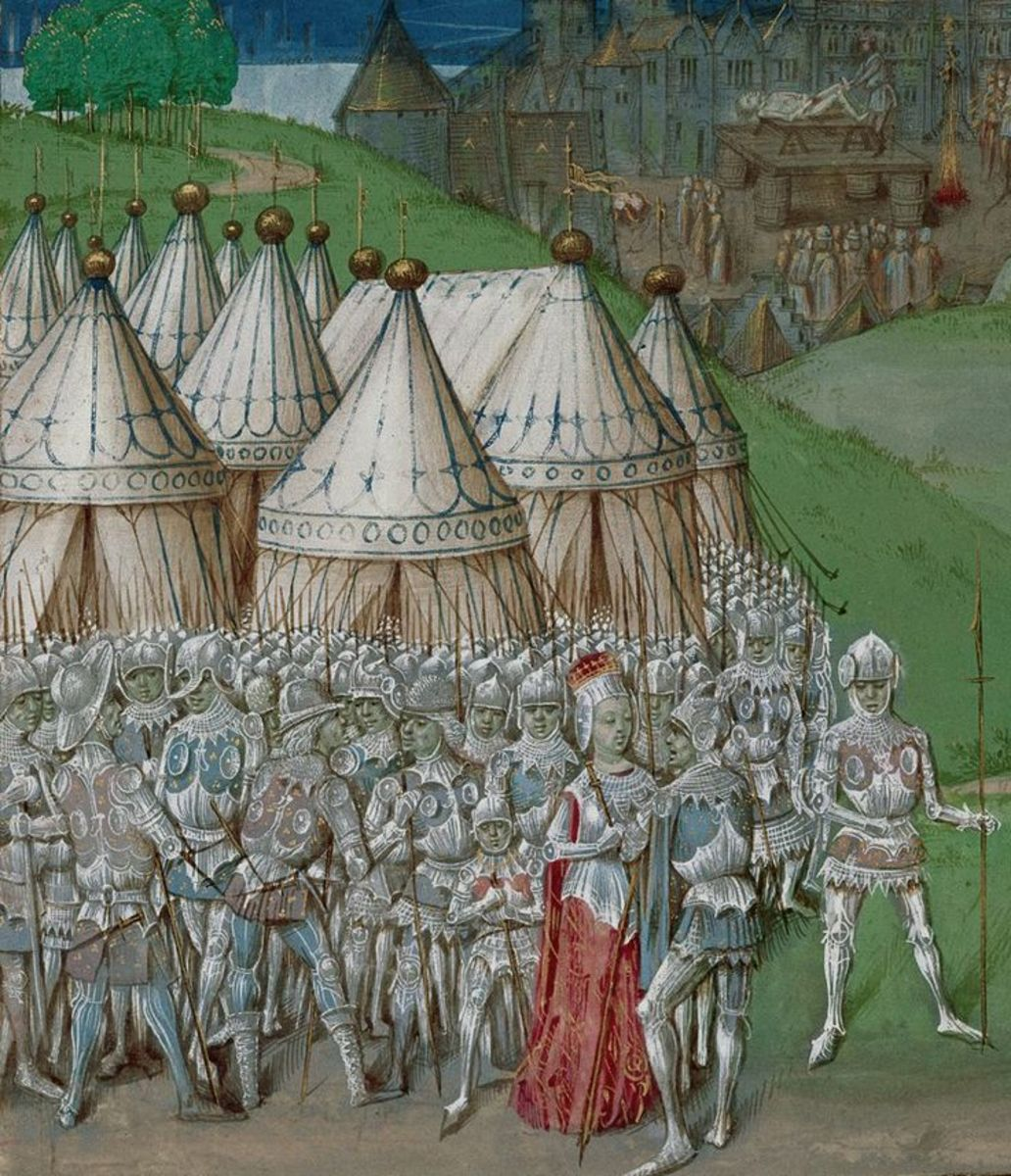 Roger Mortimer, Great Grandfather of Richard III, who usurped Edward II, then had him killed. Edward III had him hung at Tyburn.