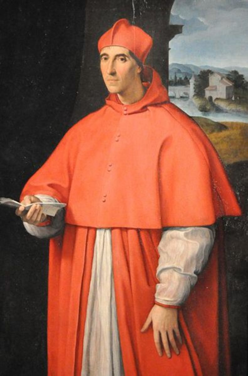 Alessandro Farnese the Eleder portraited by Raphael Sanzio in 1512, when he was a young cardinal (Naples Museo Capodimonte). He will become Pope in 1534.
