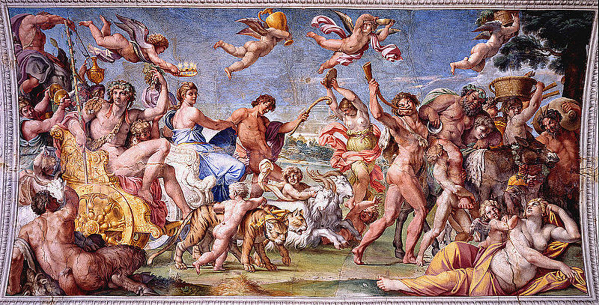 Annibale Carracci, Triumph of Bacchus and Ariadne (1597), Rome Celing of thePalazzo Farnese Gallery