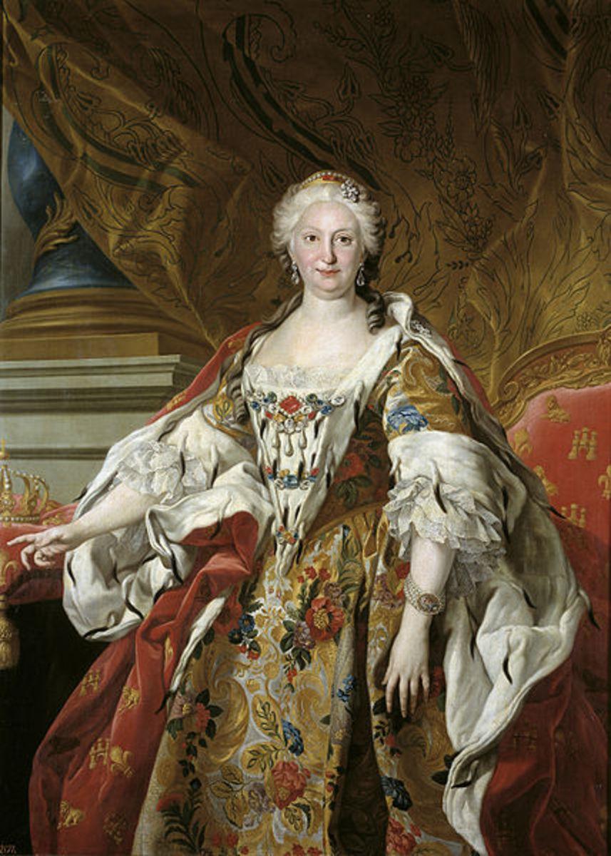 Elisabetta Farnese by Louis-Michel Van Loo (1739), Madrid Prado Museum