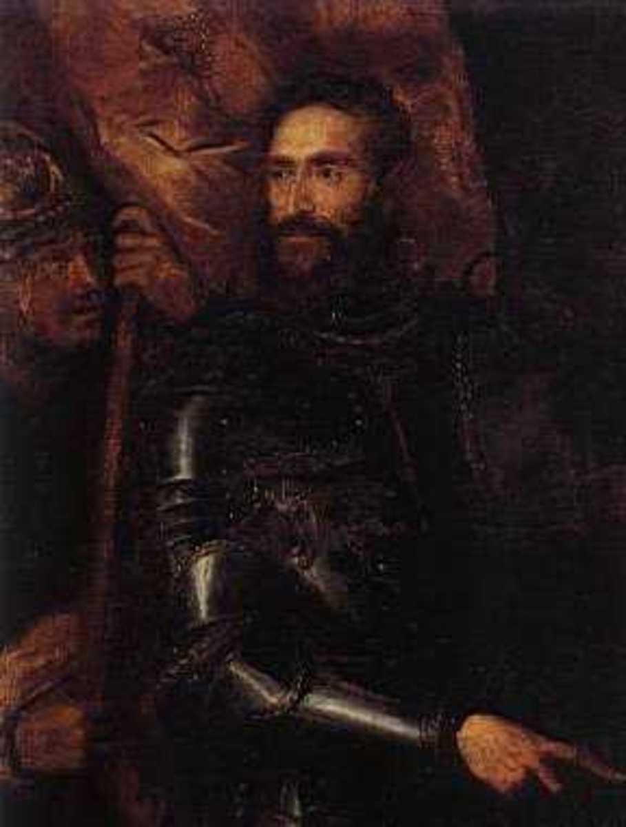 Titian, Portrait of Pier Luigi Farnese (1546), Napoli Museo  Capodimonte