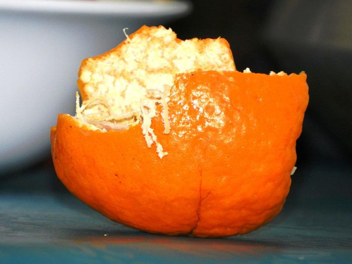 how to make orange peel powder without sunlight