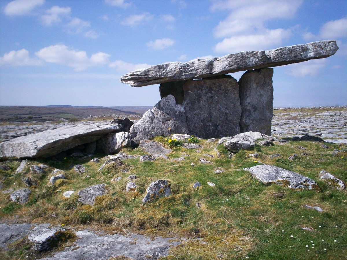 An ancient celtic burial site known as a dolmen