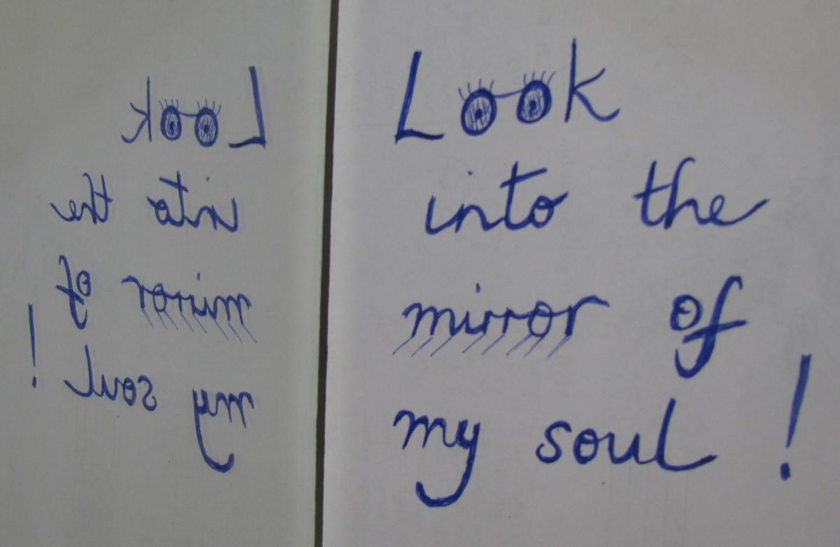 Do you ever use mirror writing?