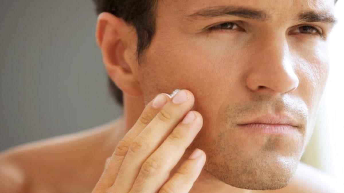 Men's skin care routine