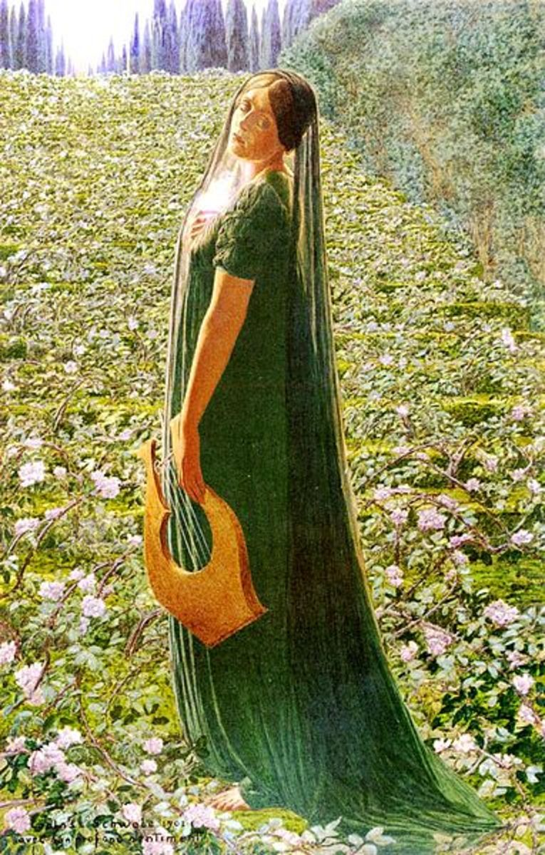 The Elysian Fields - Carlos Schwabe (1866–1926) - PD-art-100