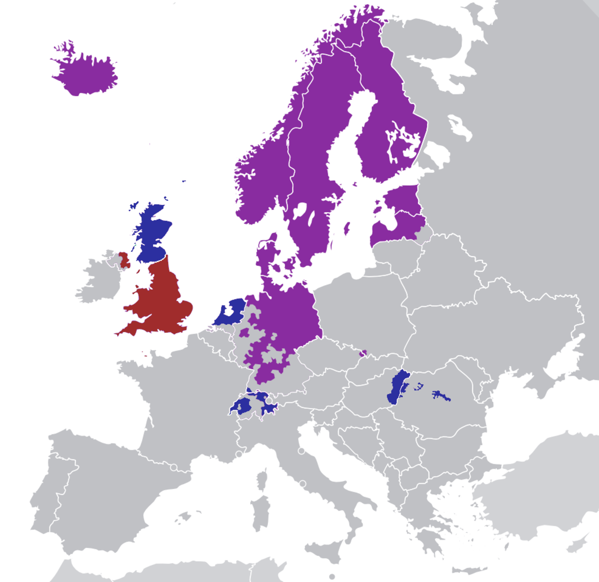 The more individualized Protestantism developed and spread in northern Europe while Catholicism kept a greater foothold in the relatively collectivist southern Europe.