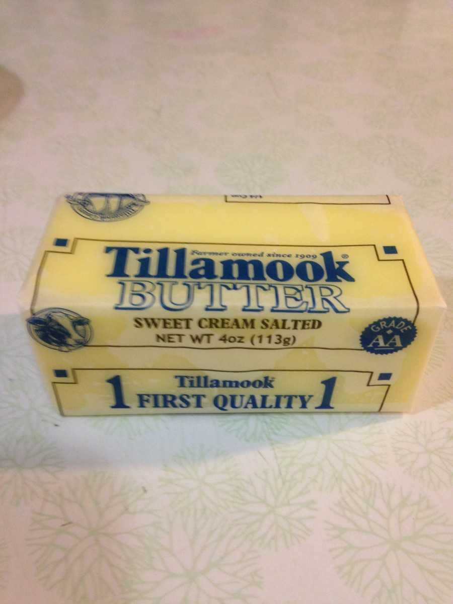 Only had salted on hand, but at least it is Tillamook!