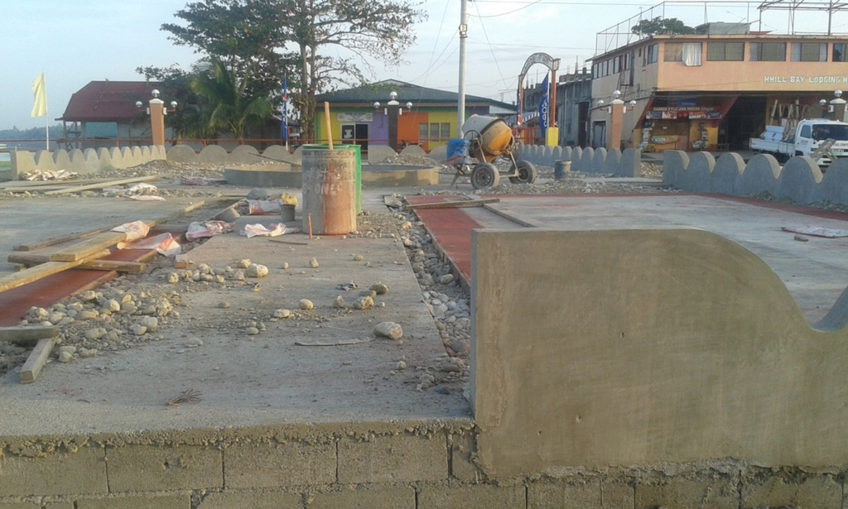 Construction of Bato Baywalk Children's Playground 2.