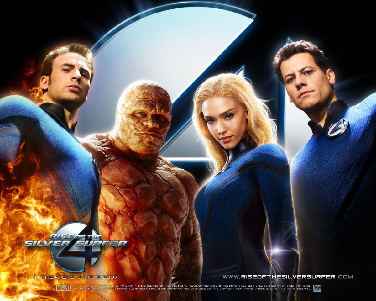 "Promotional poster for ""Fantastic Four: Rise Of The Silver Surfer"""