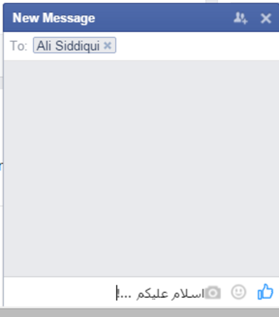 Write Urdu in Facebook chat