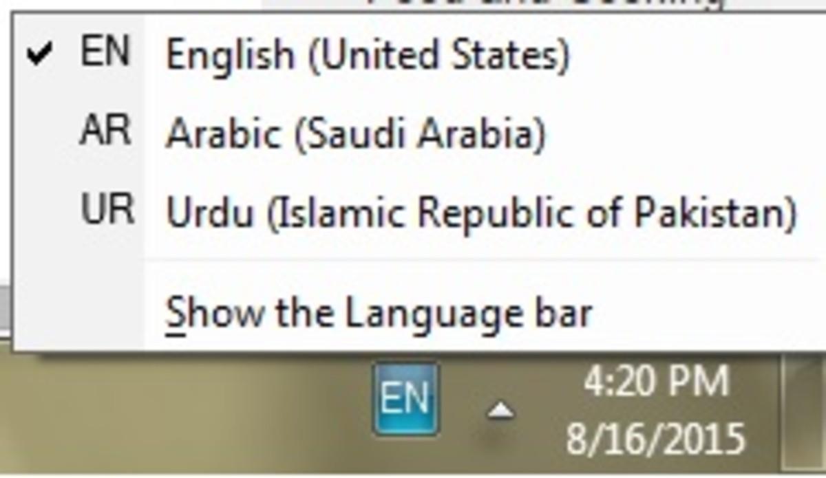The Language Toolbar