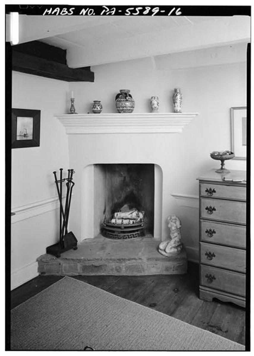 Alas, the Rumford fireplace (second floor, northwest corner).