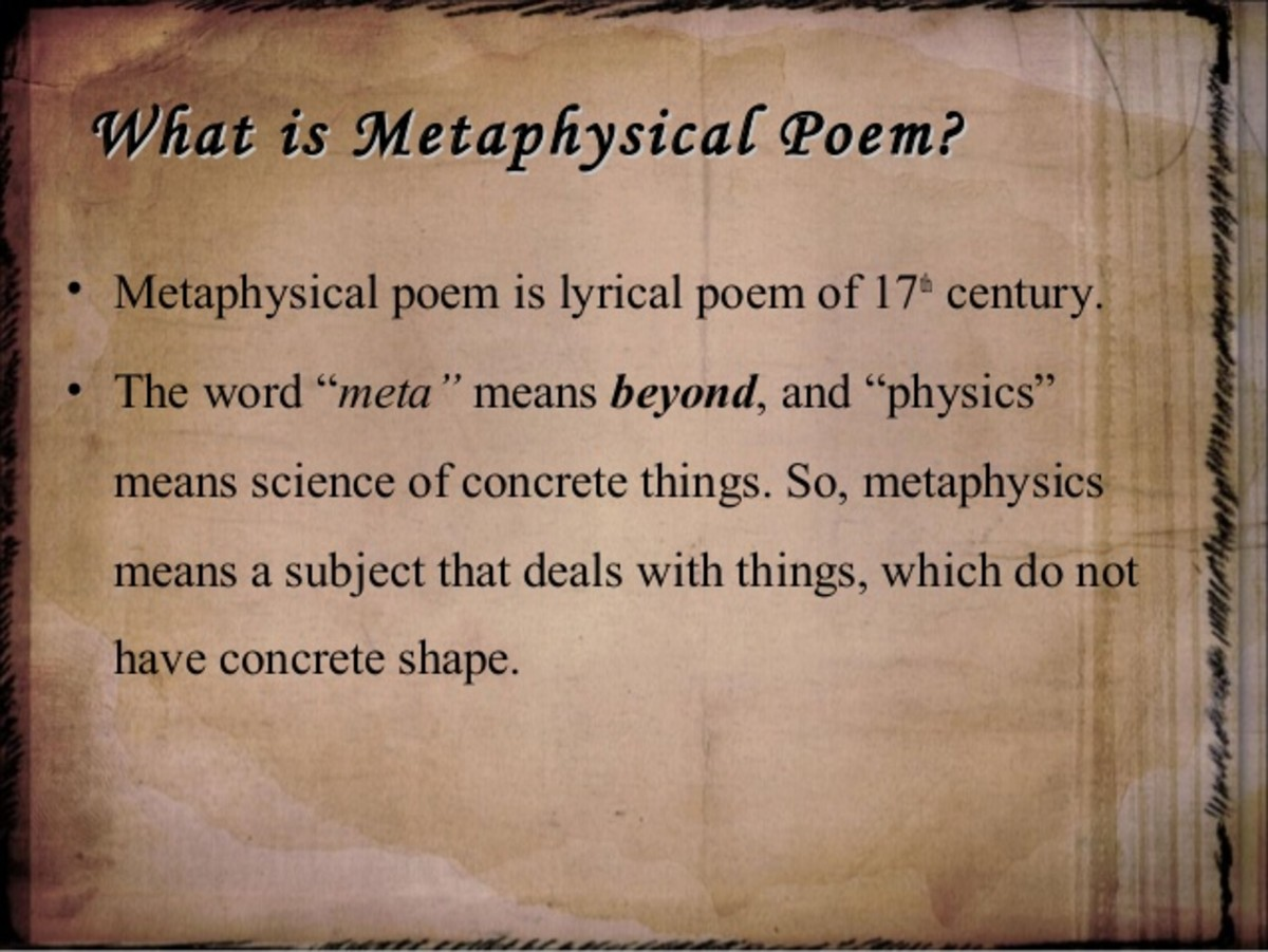 What is a Metaphysical Poem?