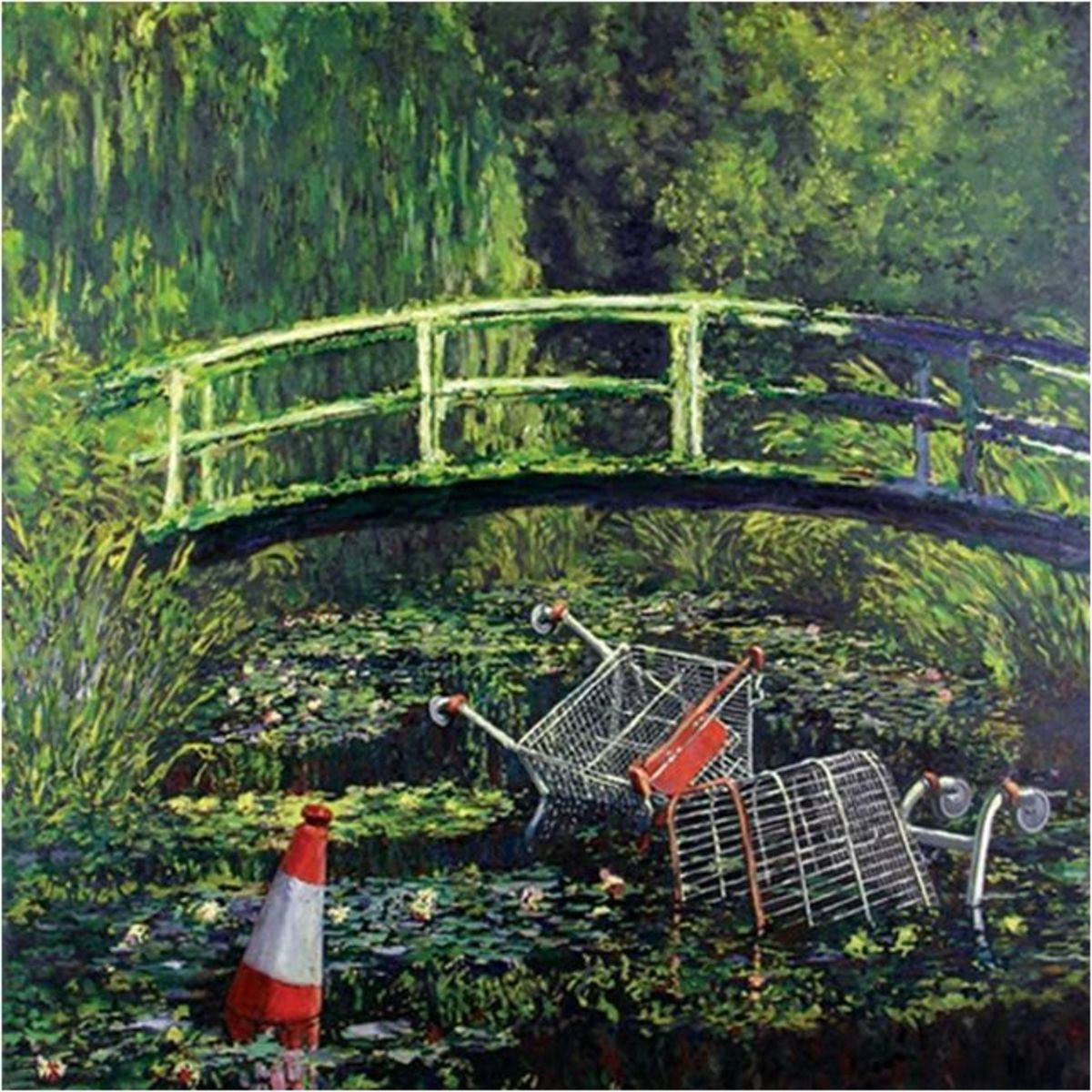 Monet's Water Lily Pond (Banksy version):