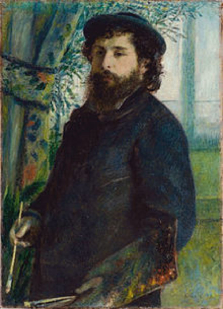 Pierre-Auguste Renoir, Portrait of Claude Monet, 1875
