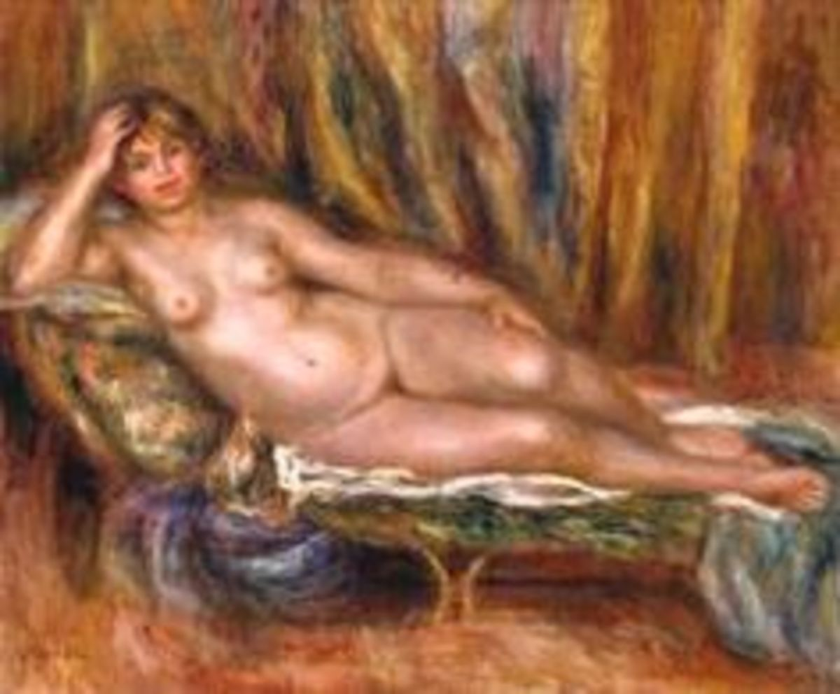One of the few nude painted by Monet