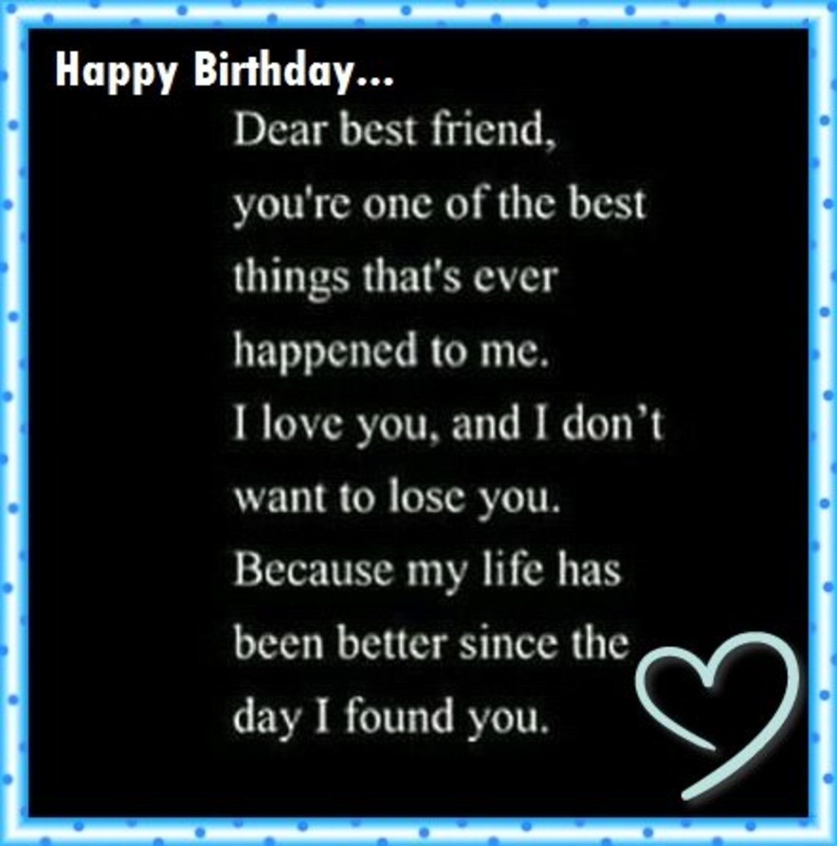 Happy Birthday Letter to My Best Friend