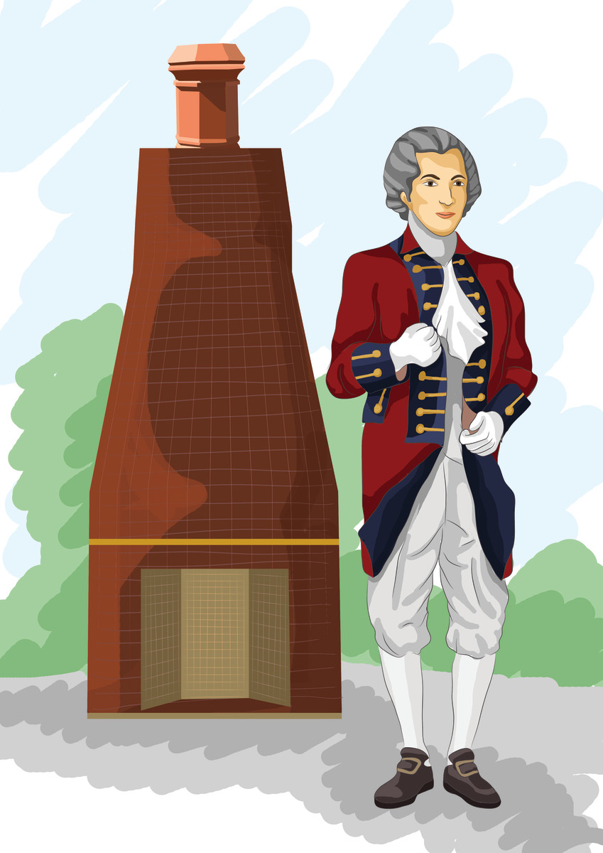 Benjamin Thompson aka Count Rumford invented the Rumford fireplace.
