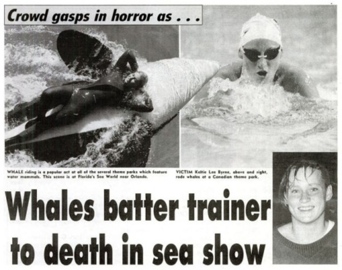 Media extract of 1991 death of Keltie Byrne at Sealand of the Pacific, B.C