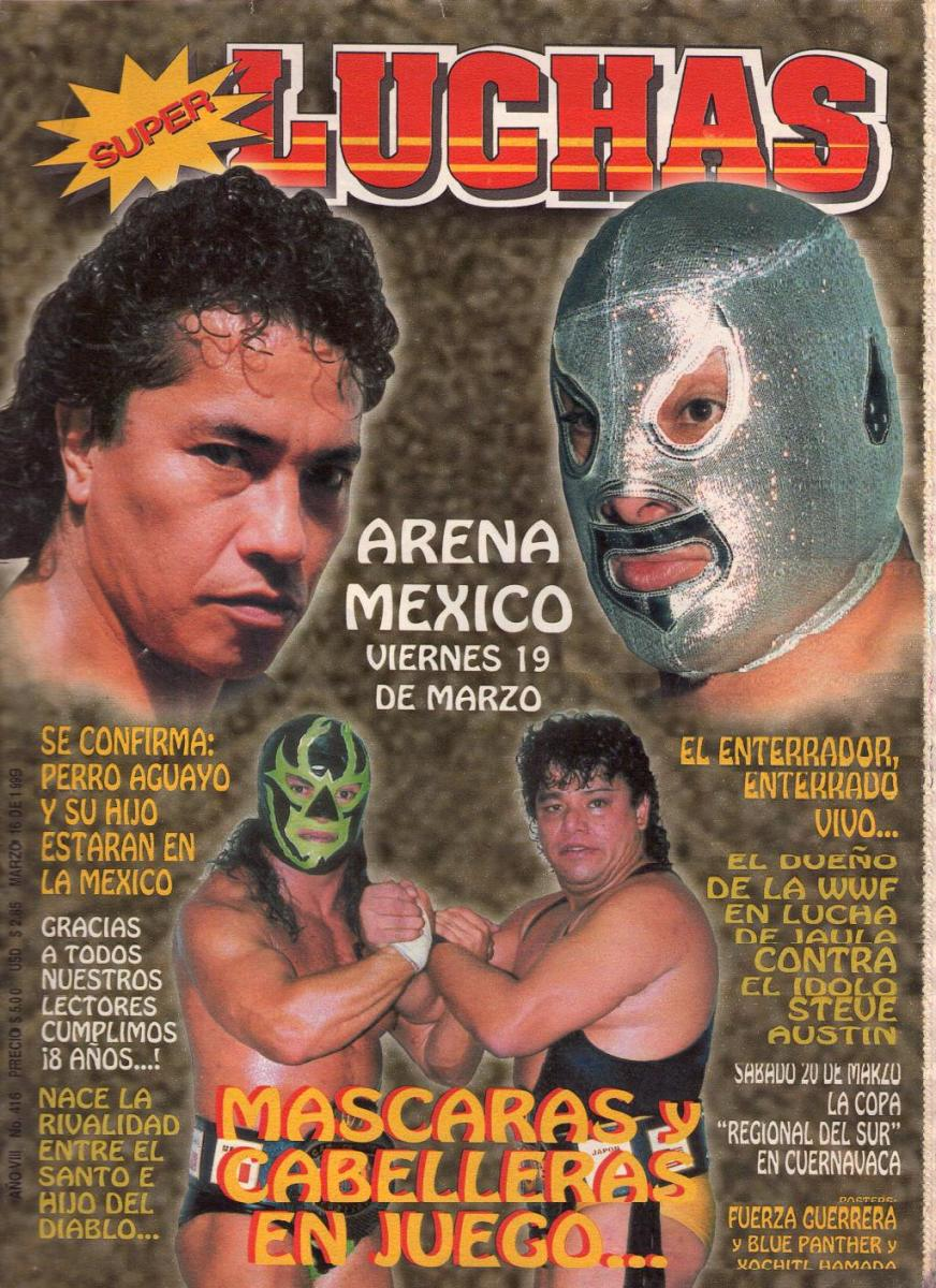 Cover of a lucha magazine hyping the Casas-del Santo match