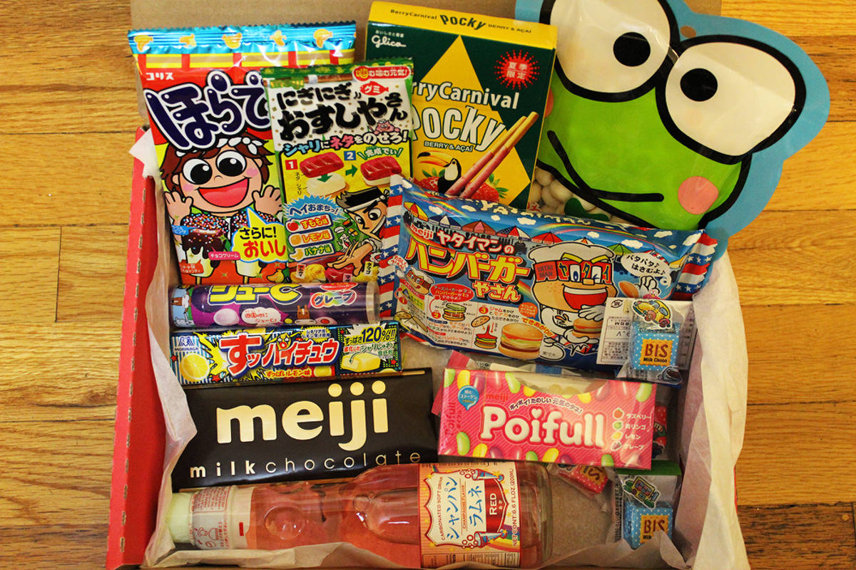 An example of the goodies inside a box from Japan Crate.
