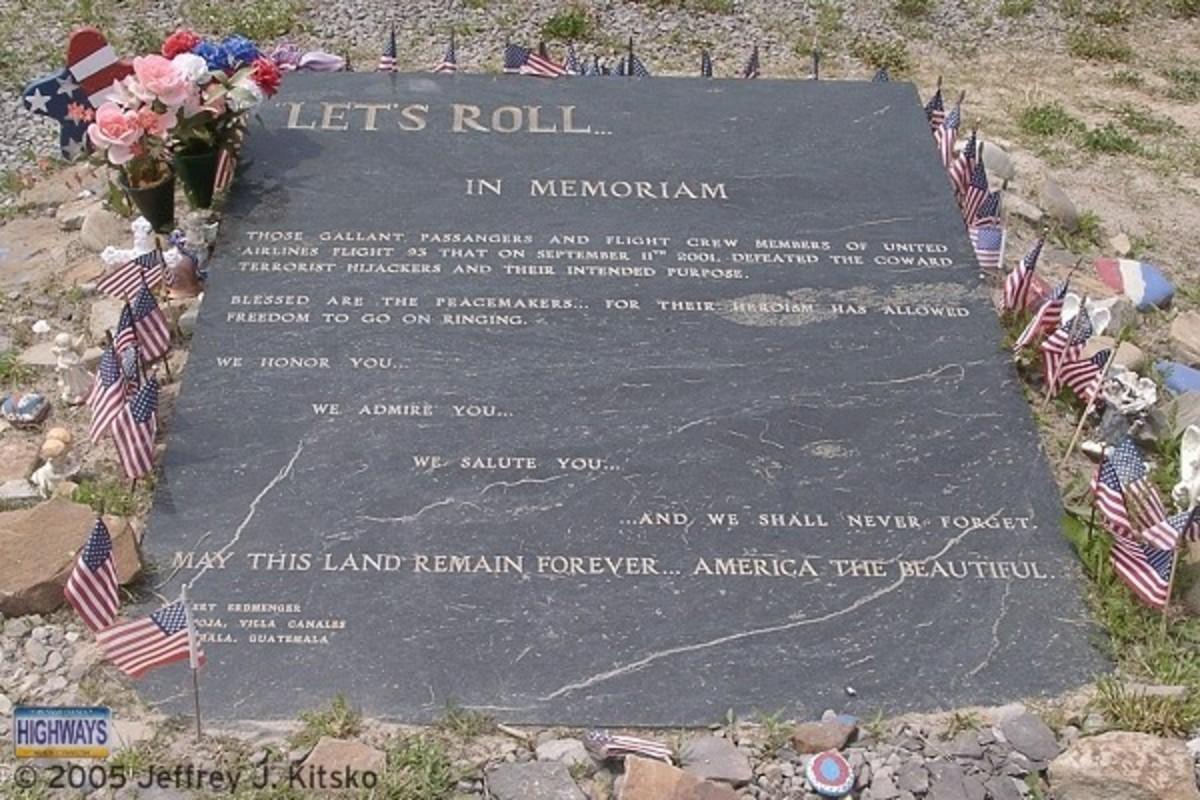 Plaque At Flight 93 Memorial