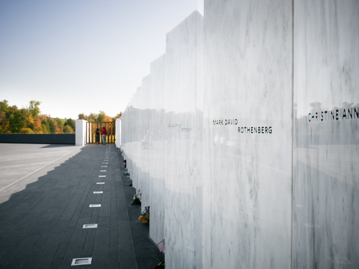 Wall Of Names At Flight 93 Memorial