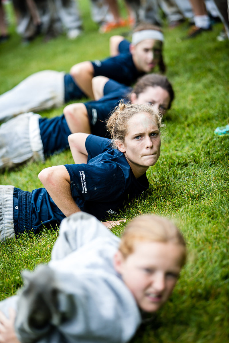Students experience what it is like to live the life of Midshipmen for one week.This includes a version of Sea Trials - a rite of passage for Midshipmen.