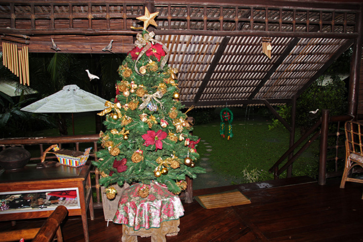 Christmas Tree in a Filipino Home