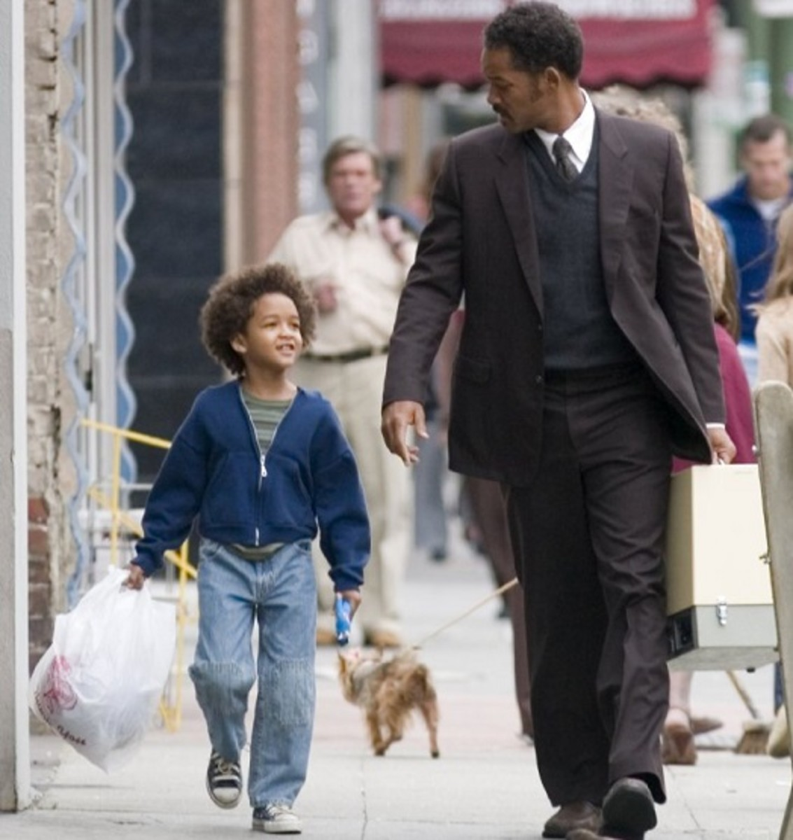 Will Smith and Jaden Smith in the pursuit of happyness.