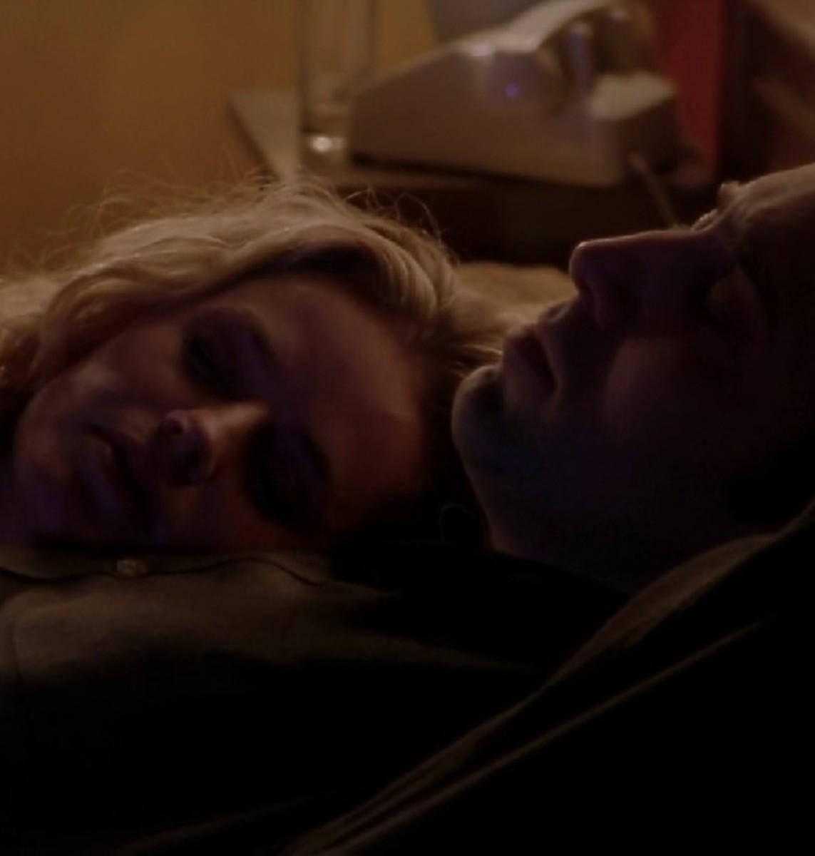 Nicholas Cage and Elizabeth Shue in Leaving las vegas.