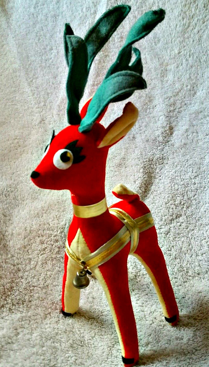 The first reindeer's were manufactured in Japan beginning in the year 1957 by remarkable Japanese toy designers whose name was Tochigi Mongi.
