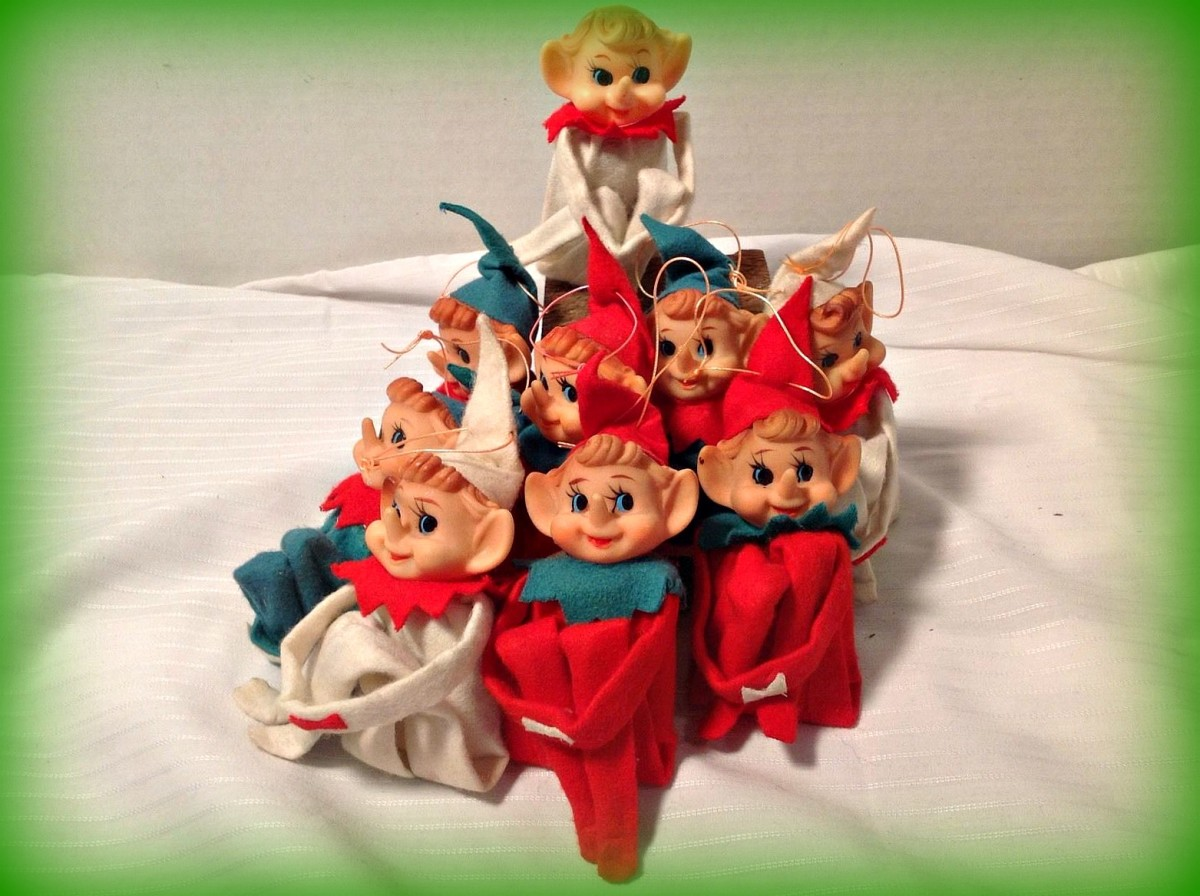 By the 1950s Knee Huger Elf's, Santa's, and Dakin Dream Pets and Christmas Reindeer had become very popular in the United States, to the holiday consumers.