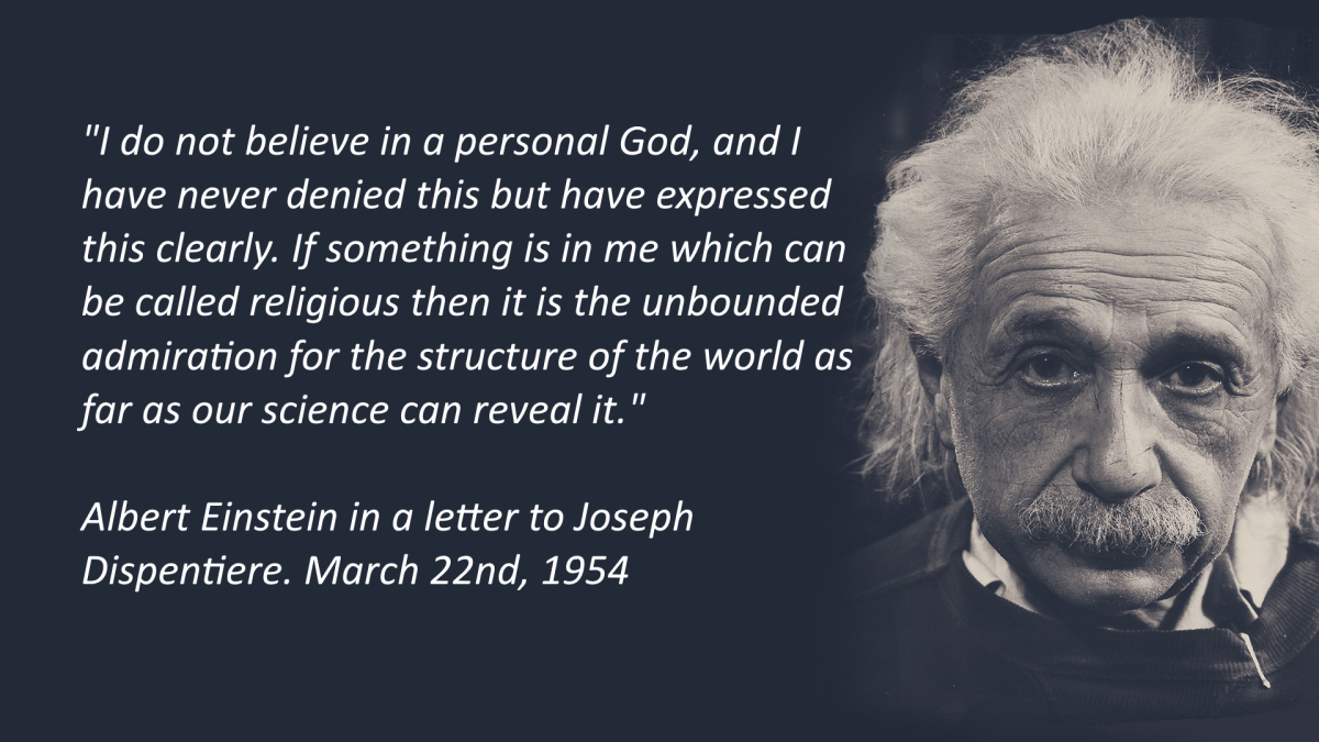 """It was, of course, a lie what you read about my convictions..."" Einstein in a letter to Joseph Dispentiere"