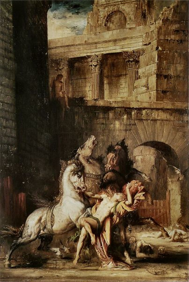 Diomedes Devoured by his Horses - Gustave Moreau (1826–1898)  - PD-art-100