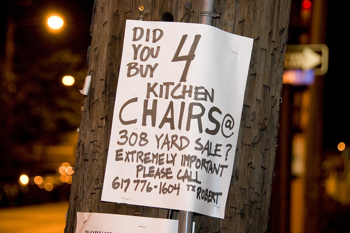 Most intriguing Yard Sale sign I ever saw!