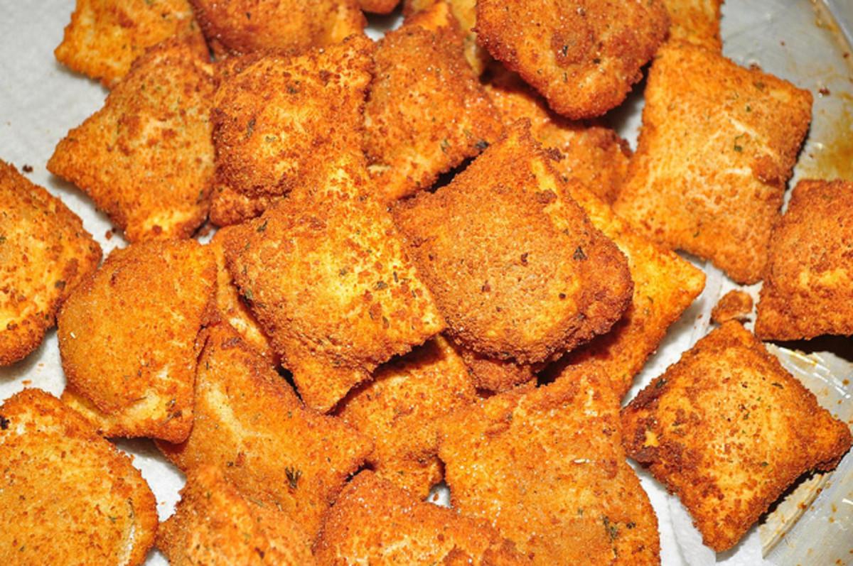 Toasted ravioli - Yummm!