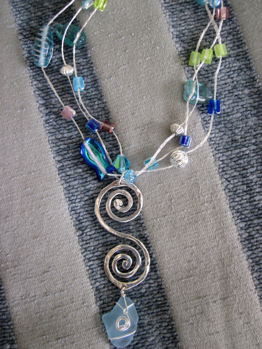 Shows what you can do, combining different methods, materials to make fabulous jewelry
