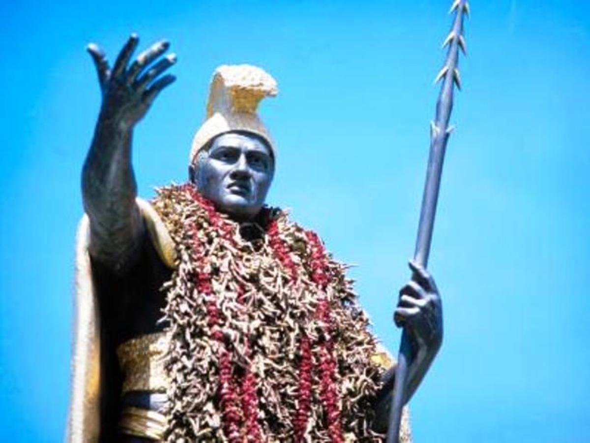 Over-king of Hawaii, Kamehameha 'the Great' ruled at the time Cook's ships came to the islands.